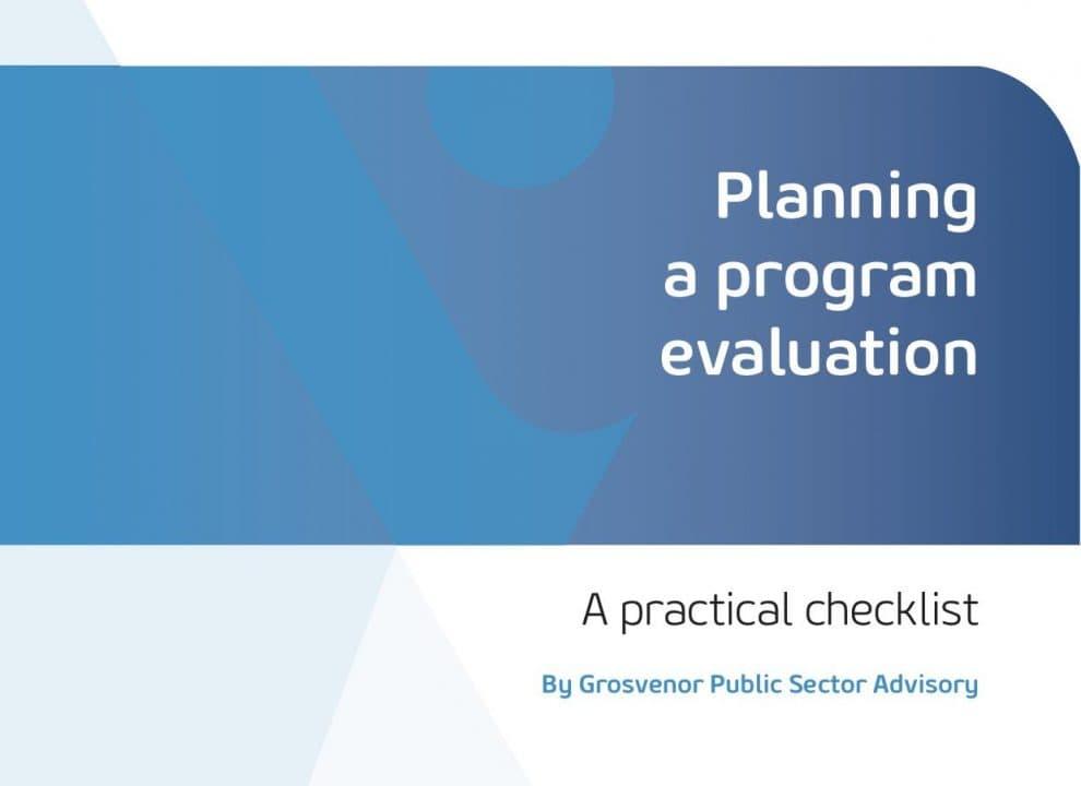 Planning a program evaluation: A practical checklist